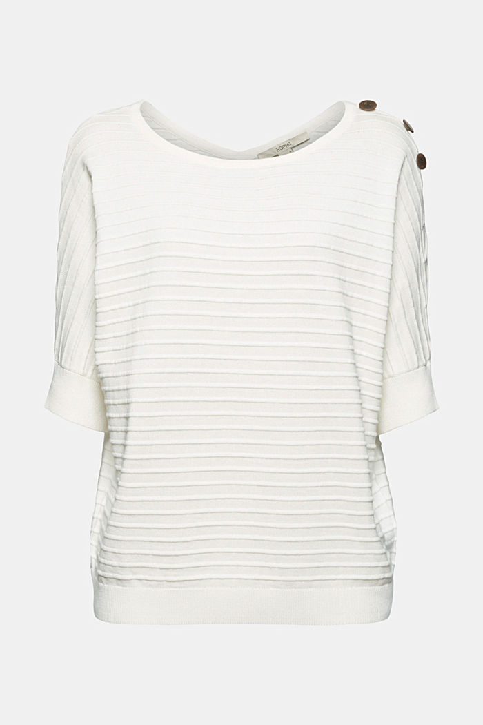Pullover mit Organic Cotton, OFF WHITE, detail image number 6