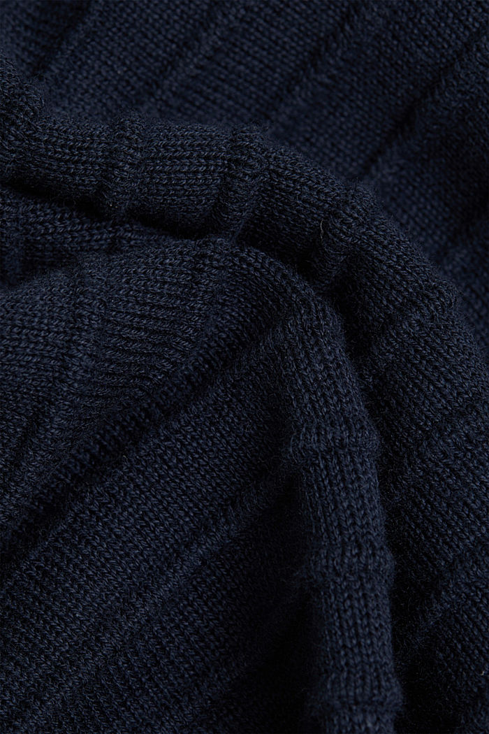 Pullover mit Organic Cotton, NAVY, detail image number 4