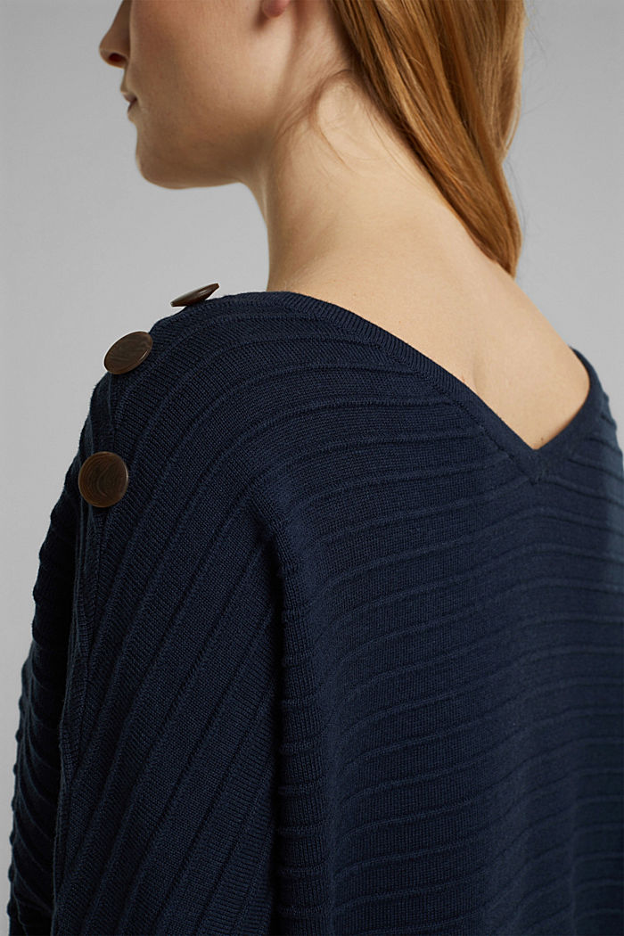 Pullover mit Organic Cotton, NAVY, detail image number 6