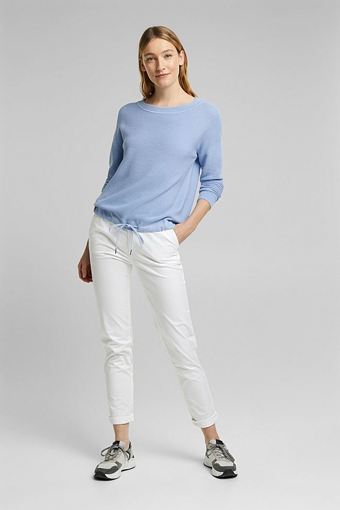 Textured jumper containing organic cotton, PASTEL BLUE, detail image number 1