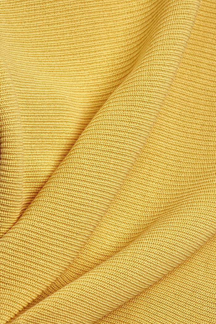Textured jumper containing organic cotton, SUNFLOWER YELLOW, detail image number 4