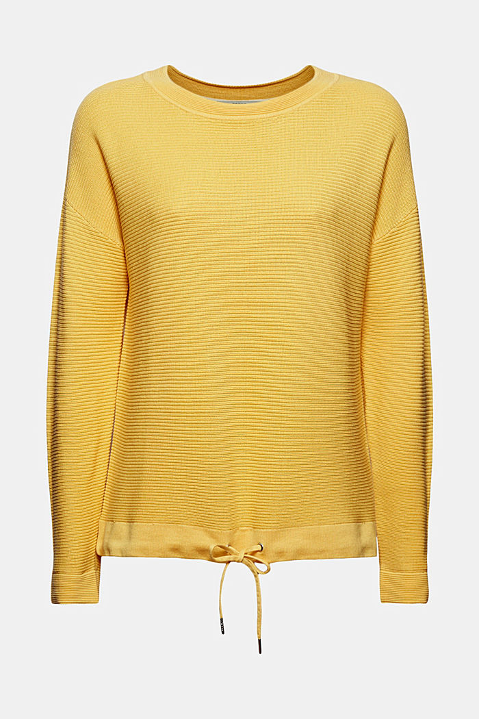 Textured jumper containing organic cotton, SUNFLOWER YELLOW, detail image number 6