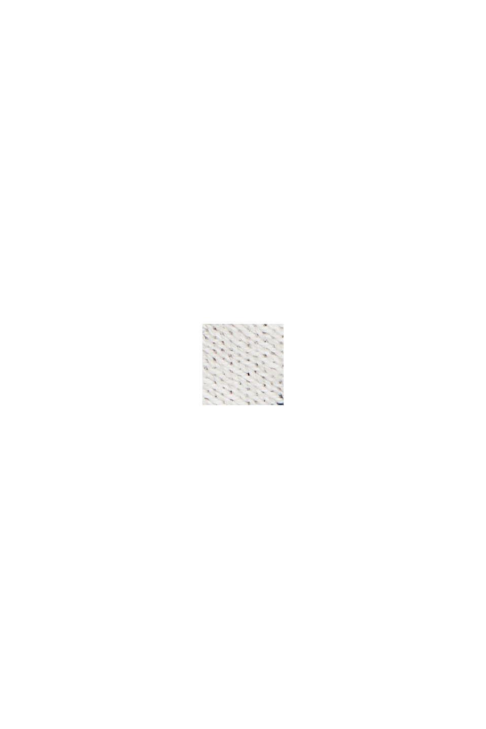 Doubleface-Pullover mit Bio-Baumwolle, OFF WHITE, swatch