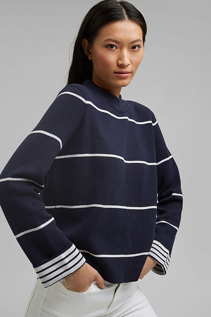 Double-faced jumper containing organic cotton