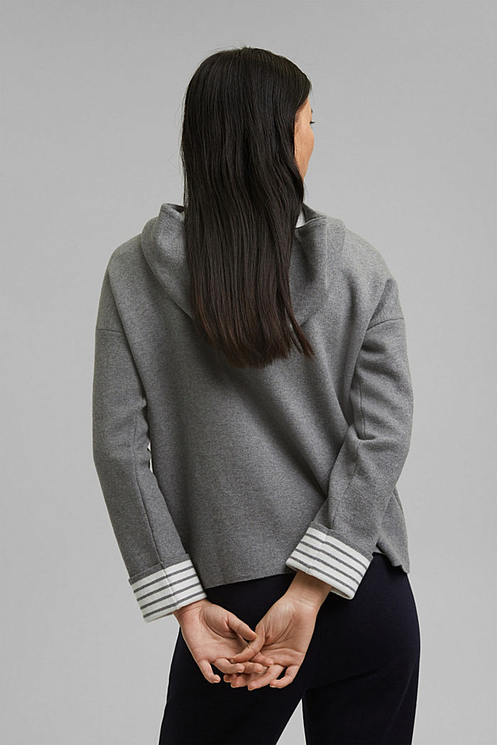 Double-faced jumper containing organic cotton, MEDIUM GREY, detail image number 3