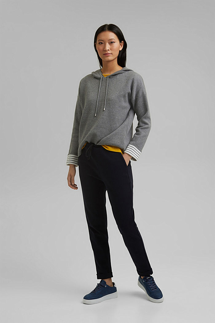 Double-faced jumper containing organic cotton, MEDIUM GREY, detail image number 1