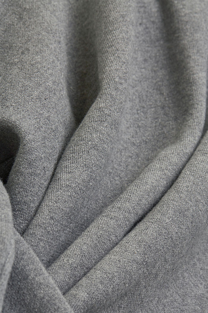 Double-faced jumper containing organic cotton, MEDIUM GREY, detail image number 4