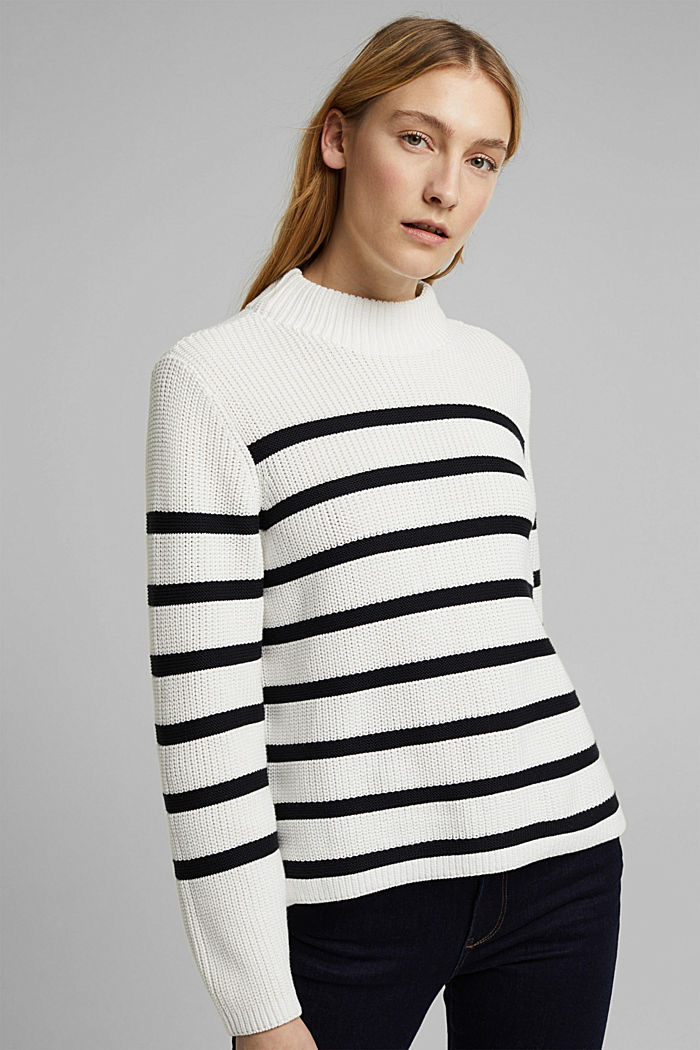 Jumper made of 100% organic cotton, OFF WHITE, detail image number 0