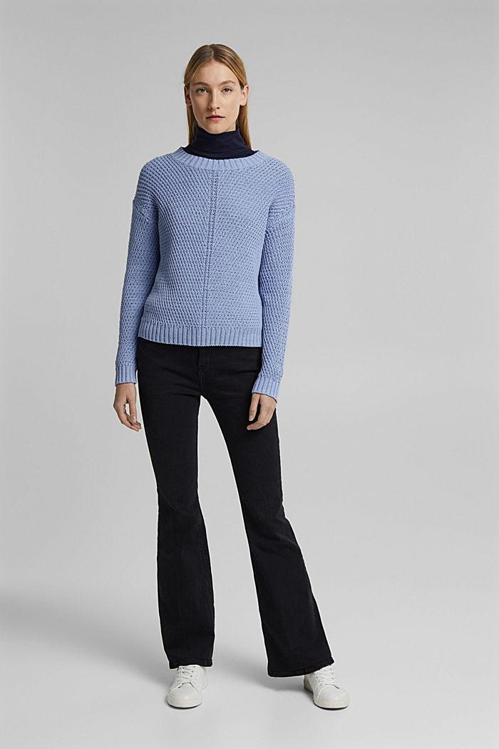 Pullover aus 100% Organic Cotton, PASTEL BLUE, detail image number 1