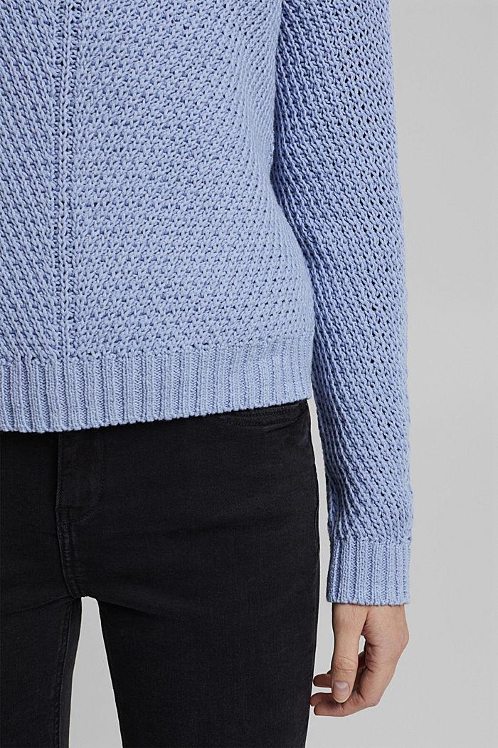 Pullover aus 100% Organic Cotton, PASTEL BLUE, detail image number 2