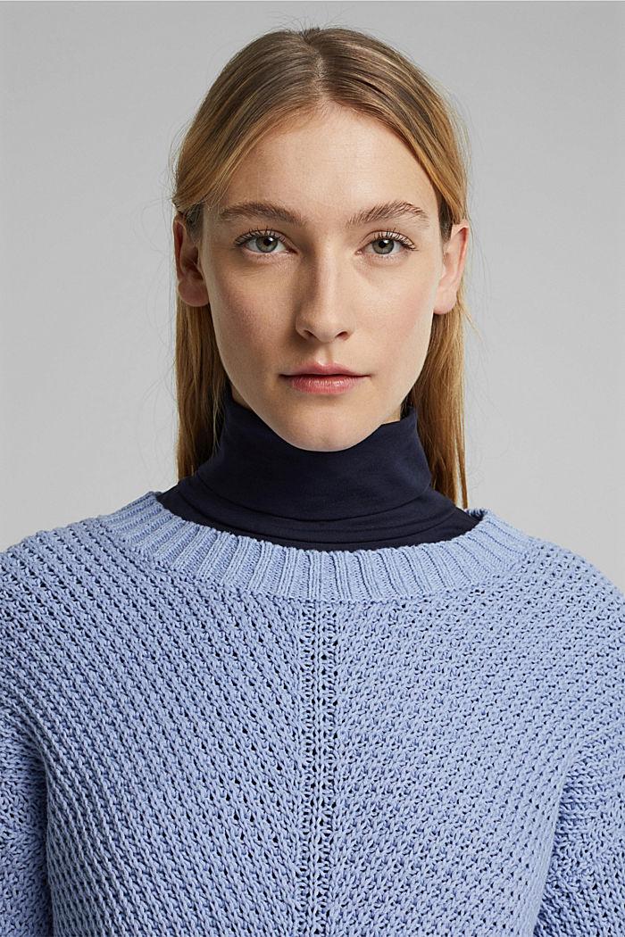 Pullover aus 100% Organic Cotton, PASTEL BLUE, detail image number 5