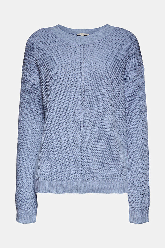 Pullover aus 100% Organic Cotton, PASTEL BLUE, overview