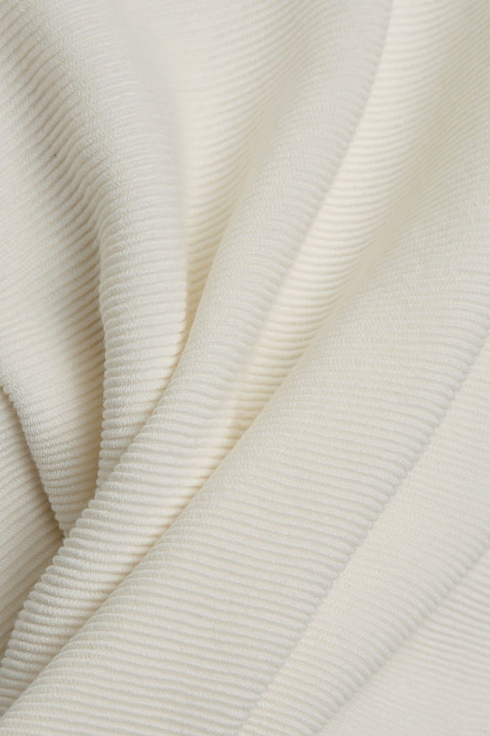 Ribbed jumper with organic cotton, OFF WHITE, detail image number 4