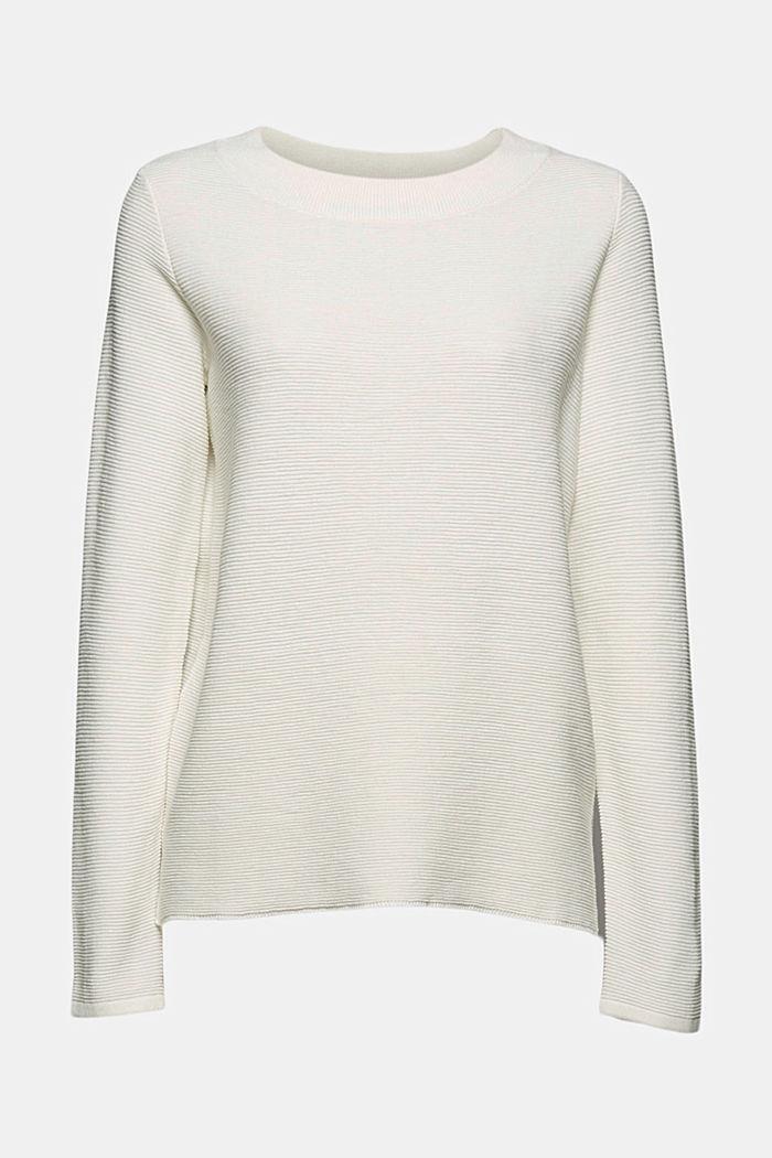 Sweter w prążki z bawełną organiczną