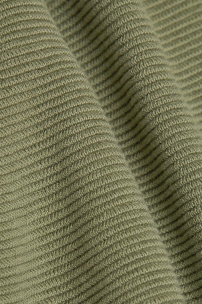 Ripp-Pullover mit Organic Cotton, LIGHT KHAKI, detail image number 4