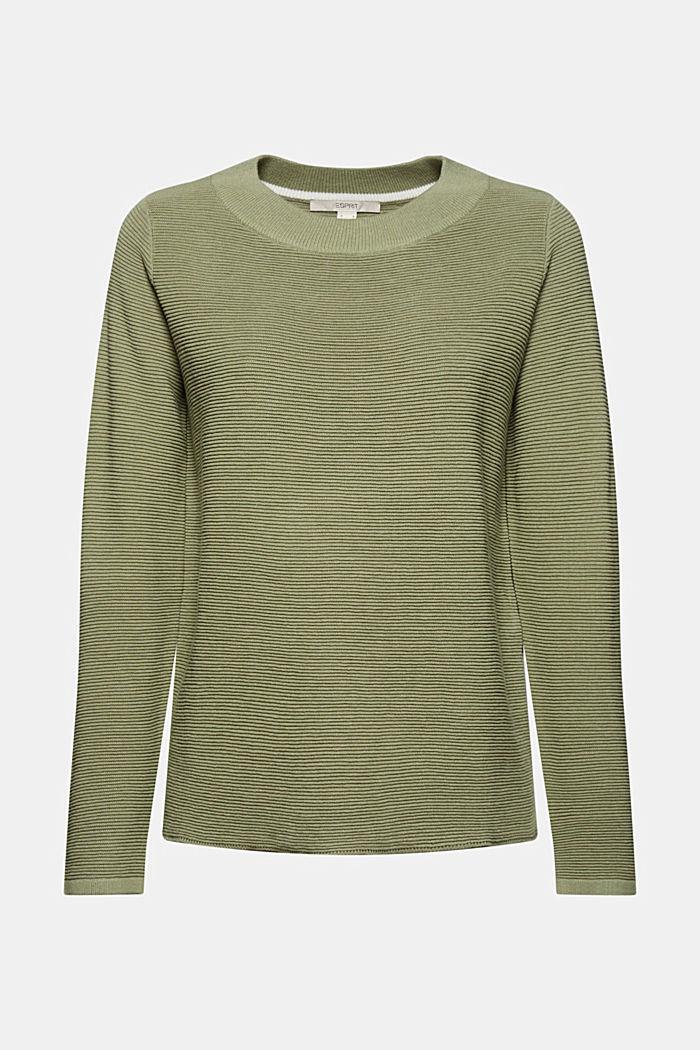 Ripp-Pullover mit Organic Cotton, LIGHT KHAKI, detail image number 5