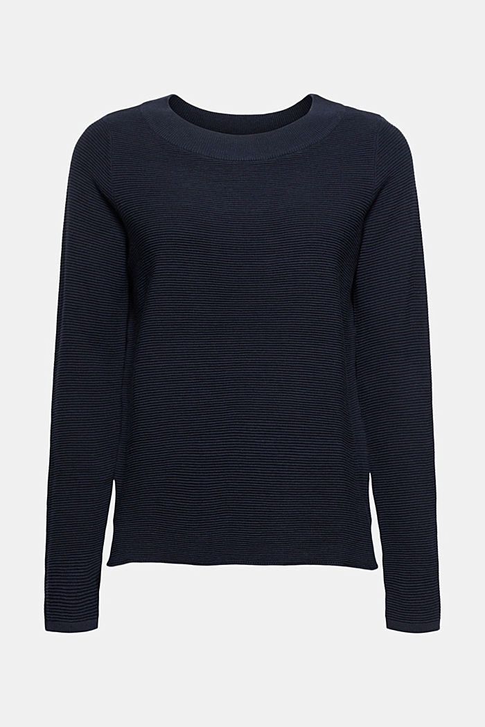 Ribbed jumper with organic cotton, NAVY, detail image number 7