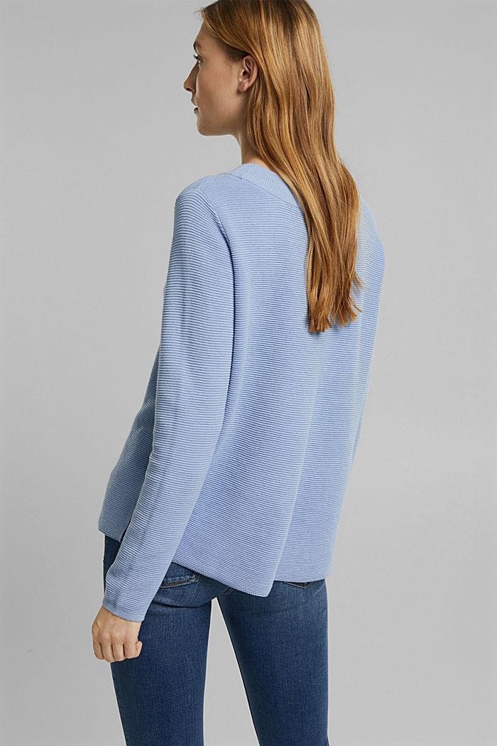 Ripp-Pullover mit Organic Cotton, PASTEL BLUE, detail image number 3