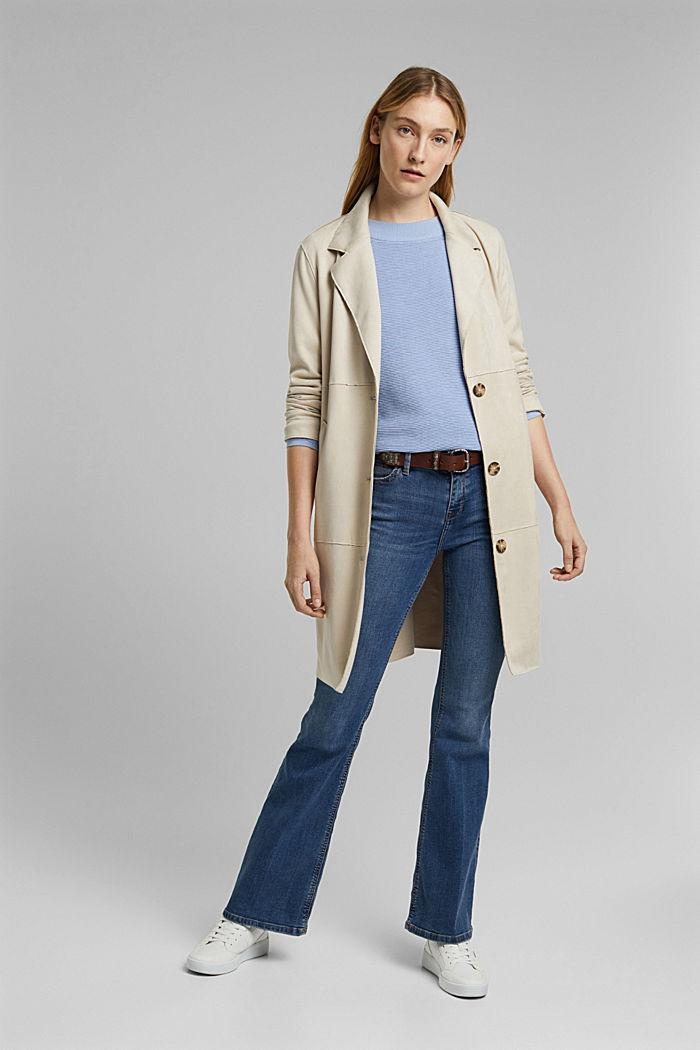 Ripp-Pullover mit Organic Cotton, PASTEL BLUE, detail image number 1