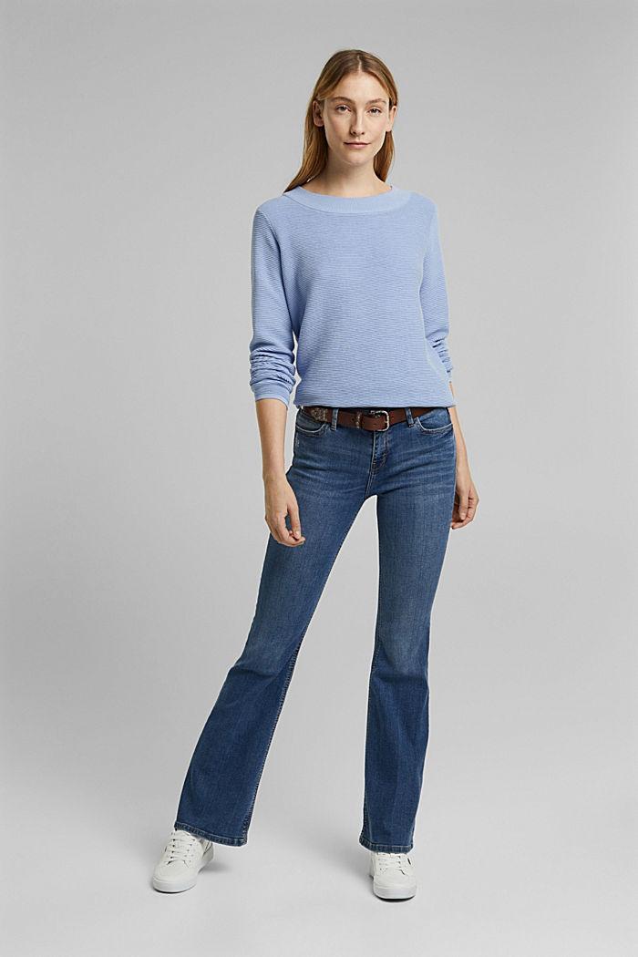 Ripp-Pullover mit Organic Cotton, PASTEL BLUE, detail image number 7