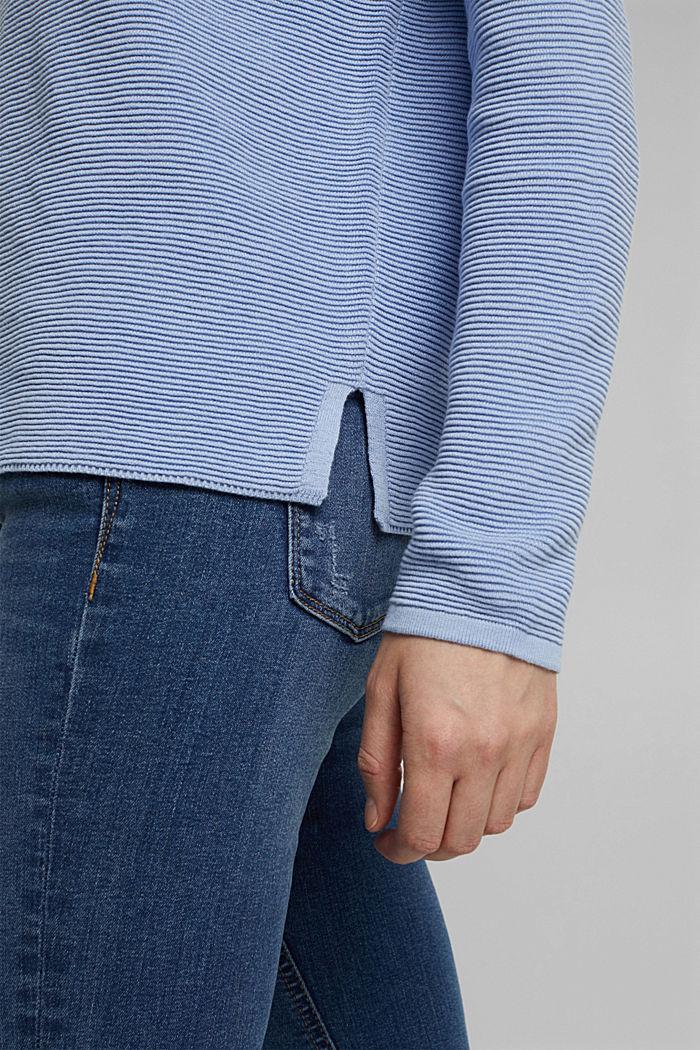 Ripp-Pullover mit Organic Cotton, PASTEL BLUE, detail image number 5