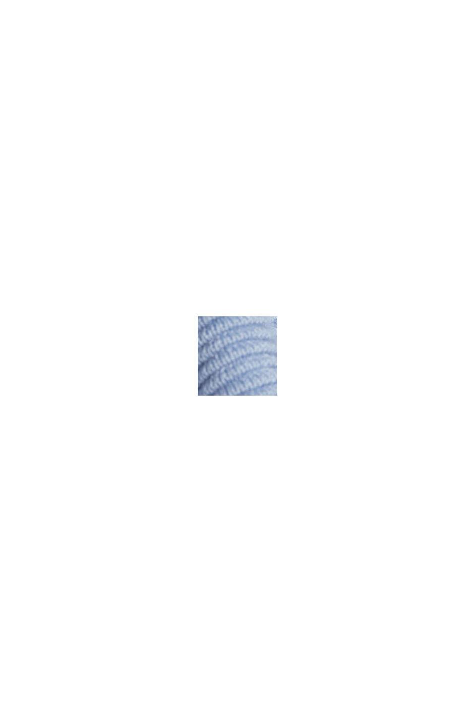 Sweter w prążki z bawełną organiczną, PASTEL BLUE, swatch