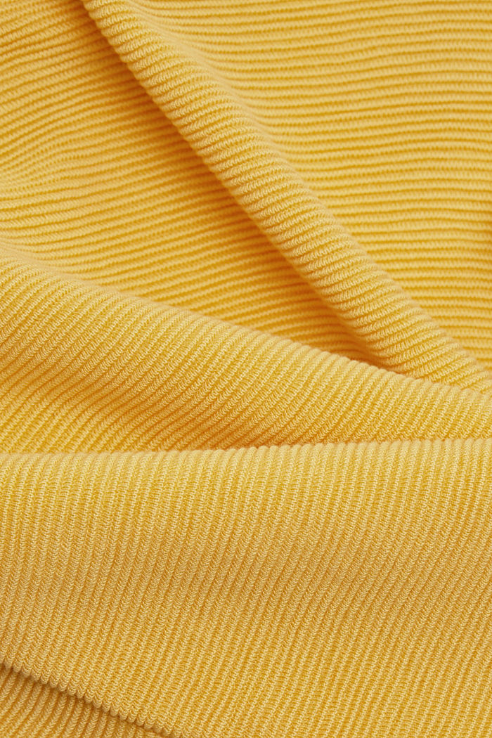 Ripp-Pullover mit Organic Cotton, SUNFLOWER YELLOW, detail image number 4