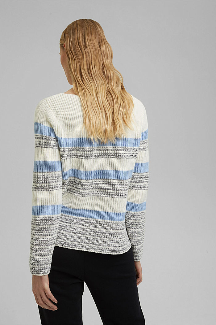 Striped jumper made of organic cotton, PASTEL BLUE, detail image number 3