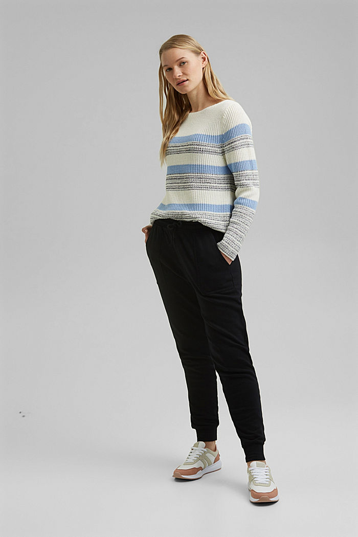 Striped jumper made of organic cotton, PASTEL BLUE, detail image number 1