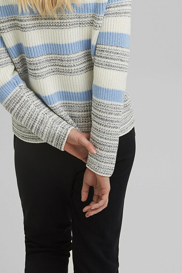 Striped jumper made of organic cotton, PASTEL BLUE, detail image number 2