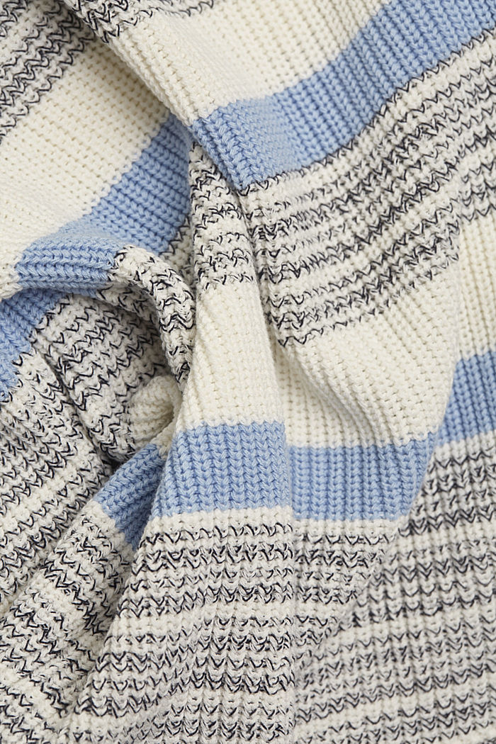 Striped jumper made of organic cotton, PASTEL BLUE, detail image number 4