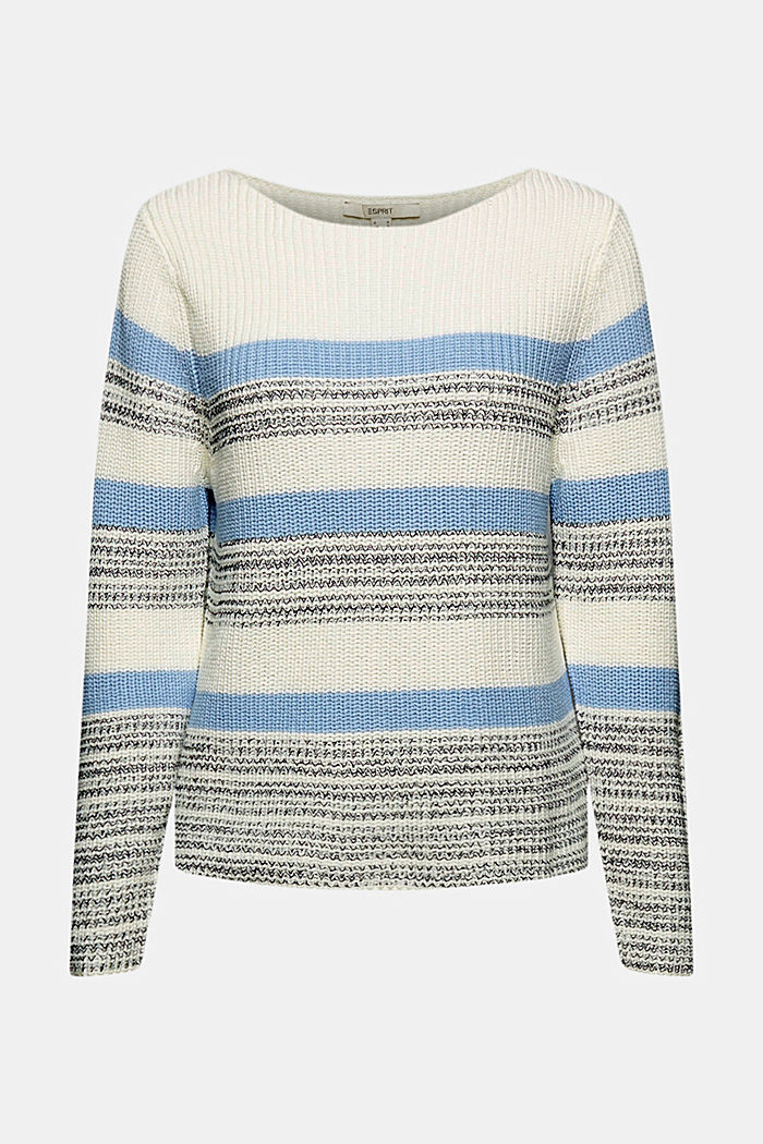 Pullover mit Streifenmuster, Organic Cotton, PASTEL BLUE, detail image number 6