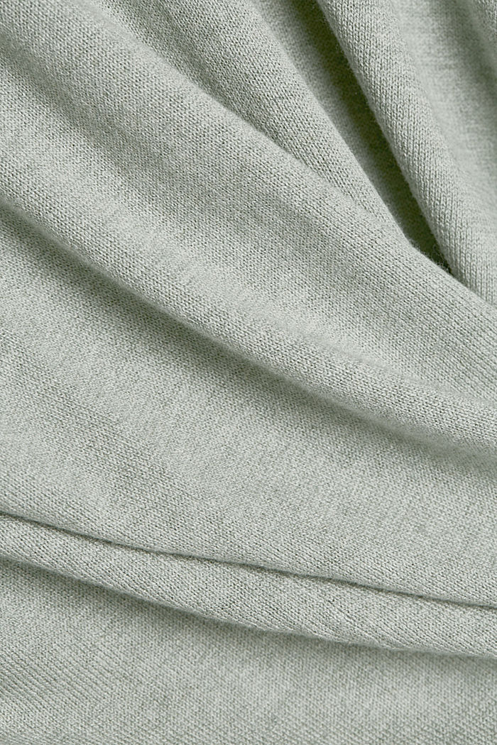 CURVY Cardigan mit Organic Cotton, DUSTY GREEN, detail image number 4