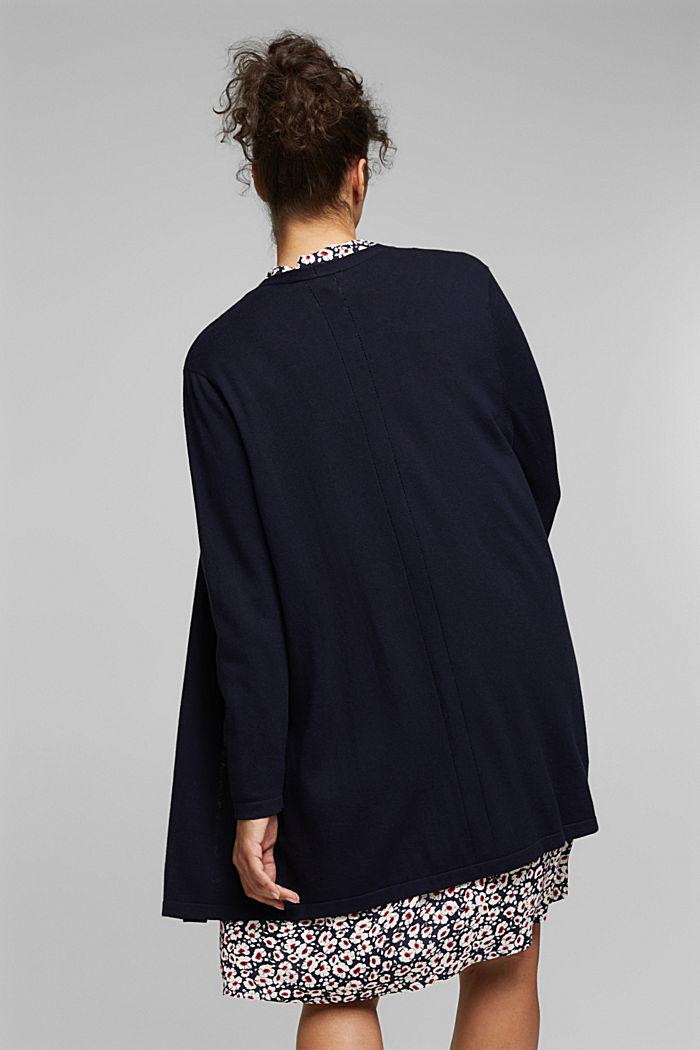CURVY cardigan containing organic cotton, NAVY, detail image number 3