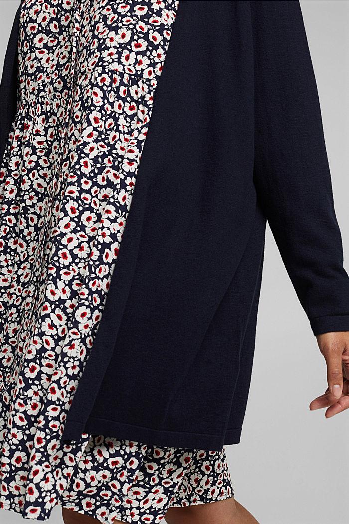 CURVY cardigan containing organic cotton, NAVY, detail image number 2