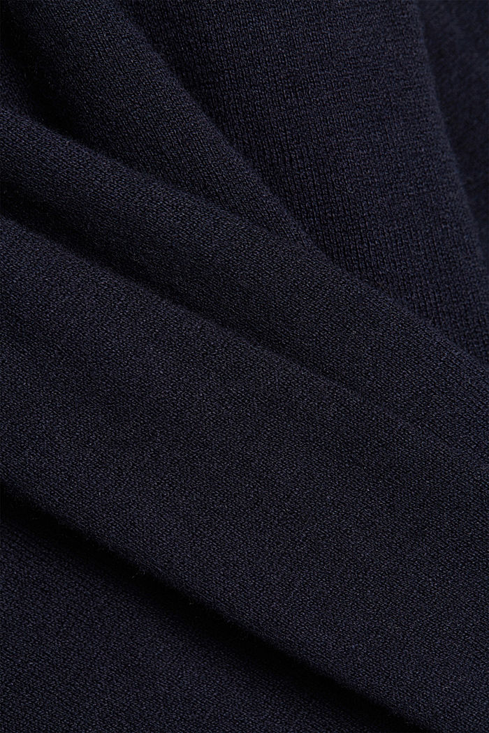 CURVY cardigan containing organic cotton, NAVY, detail image number 4
