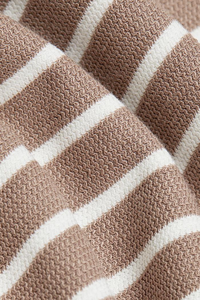 Sweatshirt van biologisch katoen, TAUPE, detail image number 4