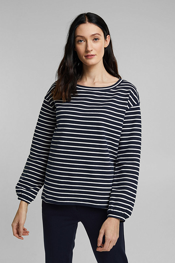 Sweatshirt aus Organic Cotton, NAVY, detail image number 0