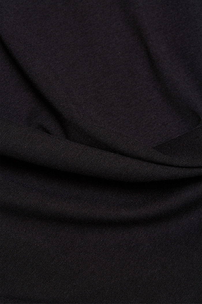Organic cotton long sleeve top with LENZING™ ECOVERO™, BLACK, detail image number 4