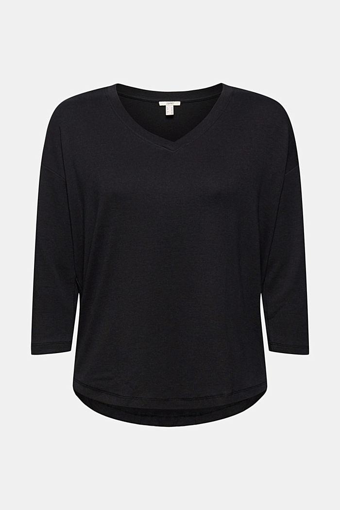 Organic Cotton Longsleeve mit LENZING™ ECOVERO™, BLACK, detail image number 5