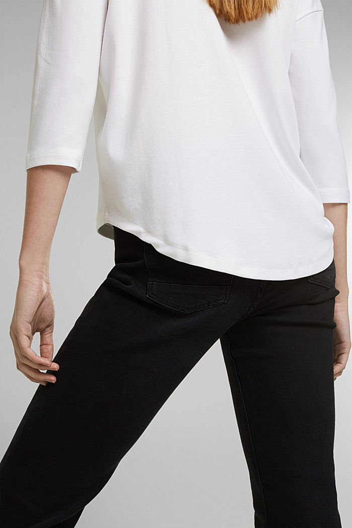 Organic cotton long sleeve top with LENZING™ ECOVERO™, WHITE, detail image number 2