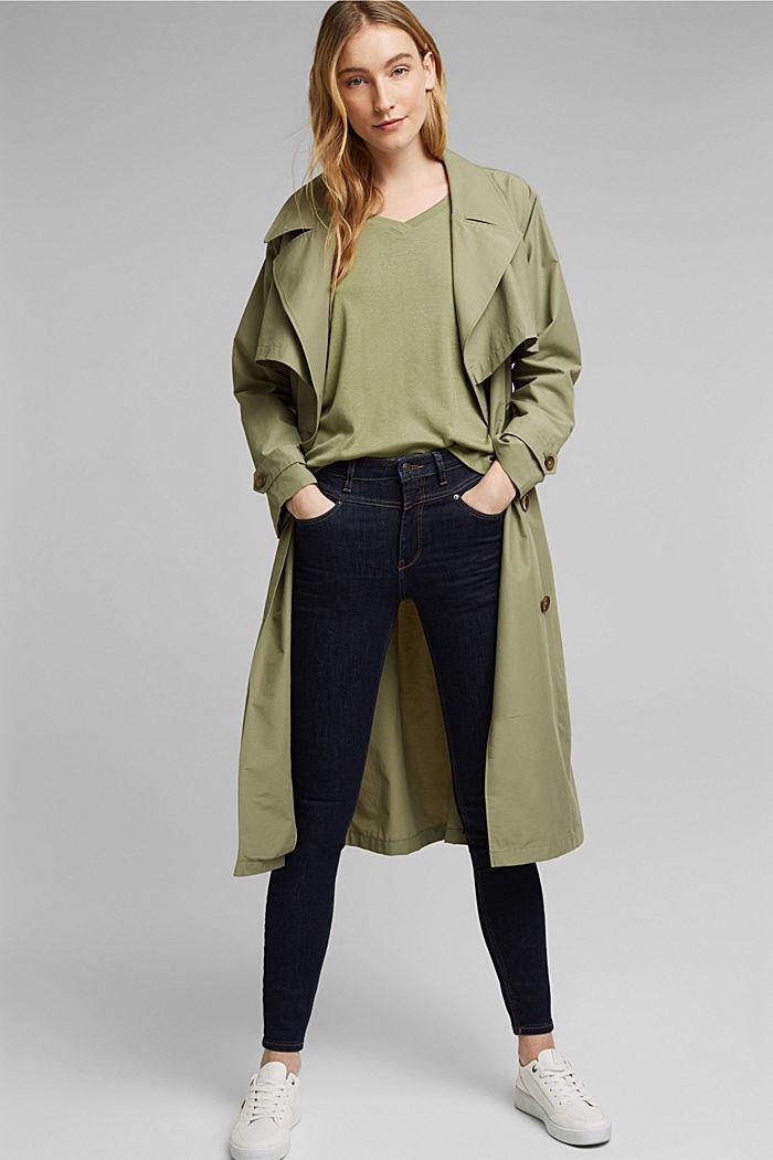 Organic cotton long sleeve top with LENZING™ ECOVERO™, LIGHT KHAKI, detail image number 1