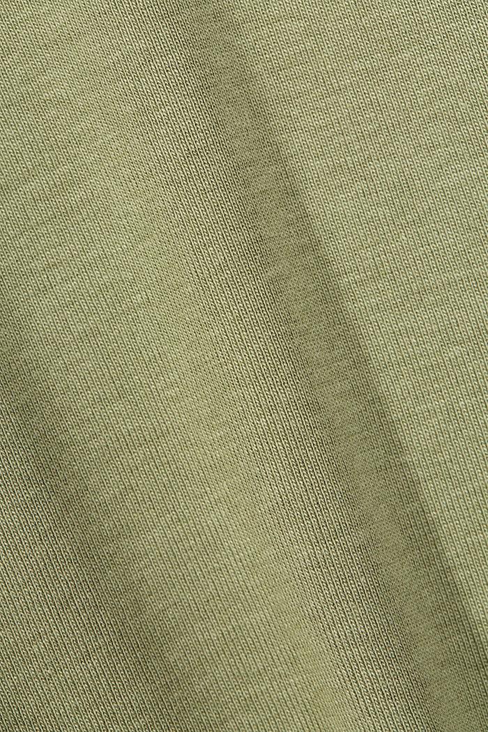 Organic cotton long sleeve top with LENZING™ ECOVERO™, LIGHT KHAKI, detail image number 3