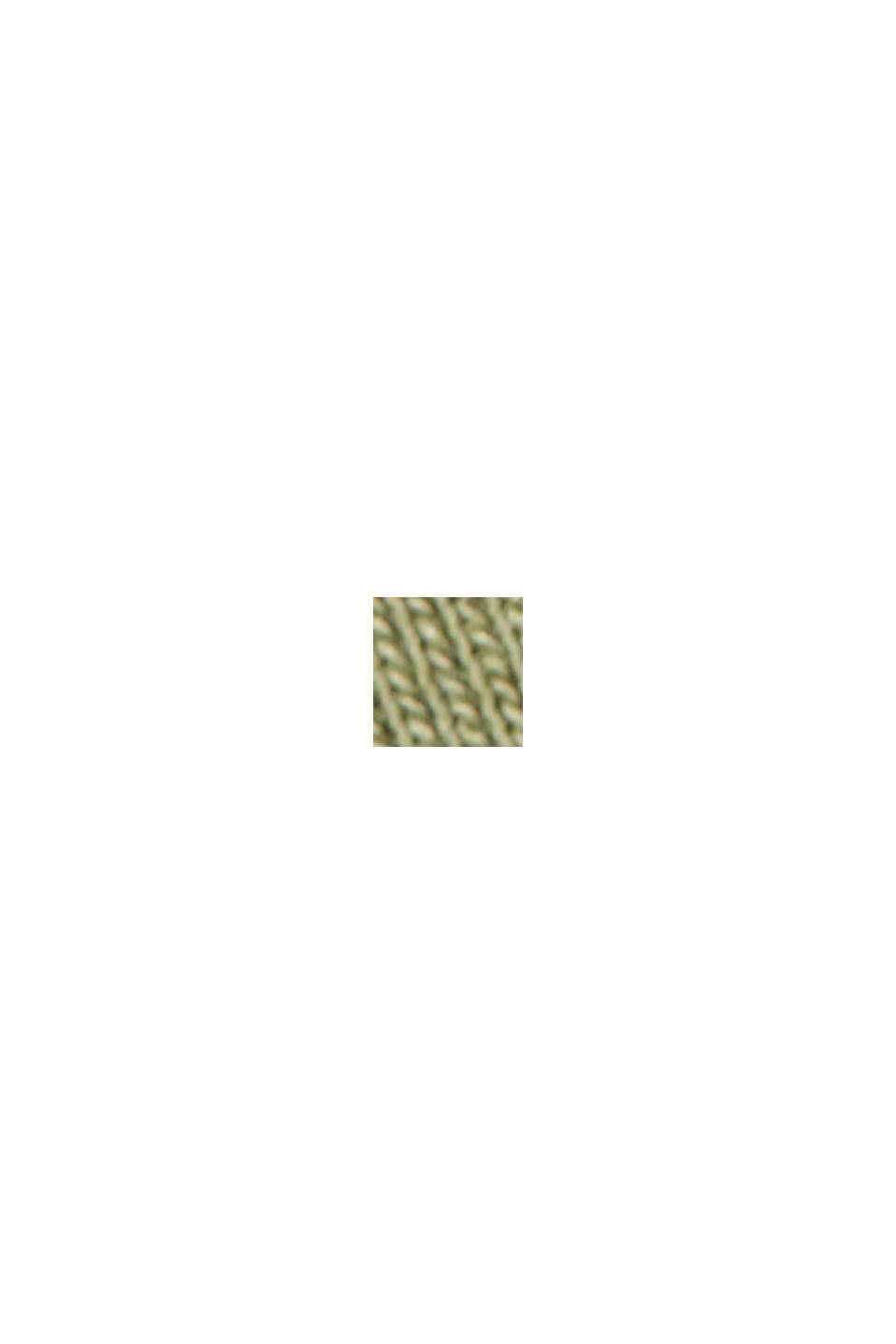 Organic cotton long sleeve top with LENZING™ ECOVERO™, LIGHT KHAKI, swatch