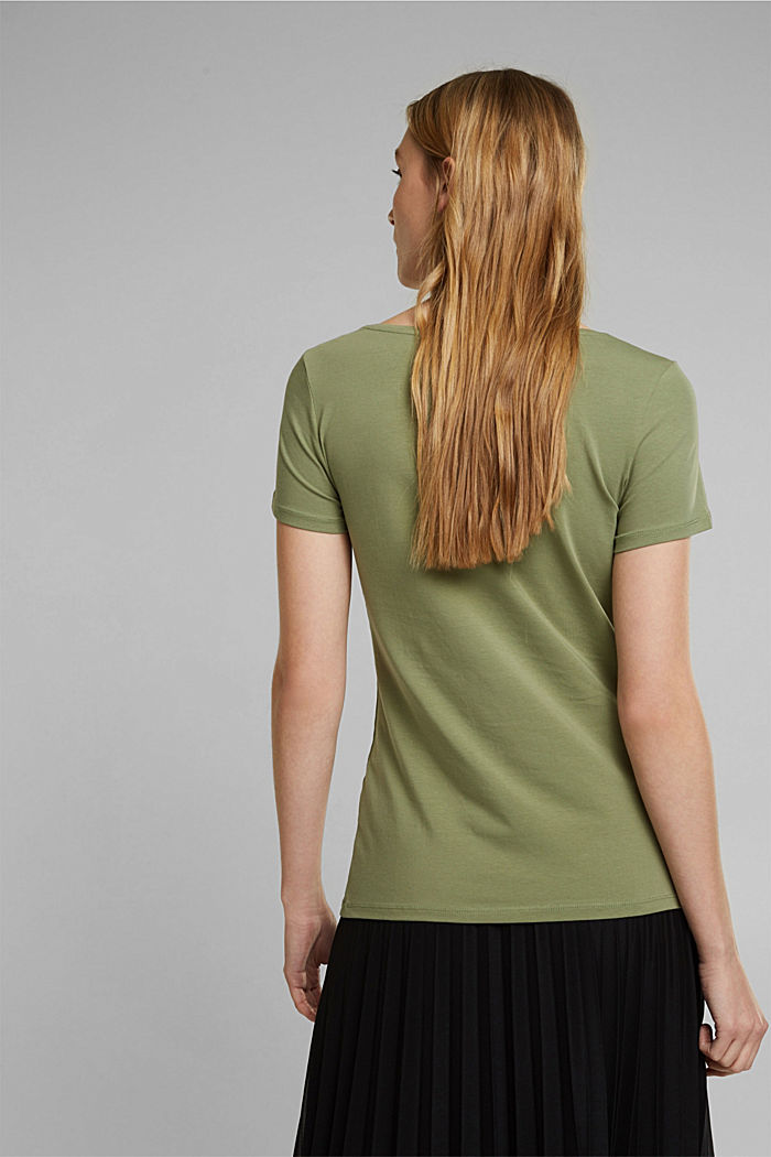 Basic T-Shirt aus Organic Cotton, LIGHT KHAKI, detail image number 3