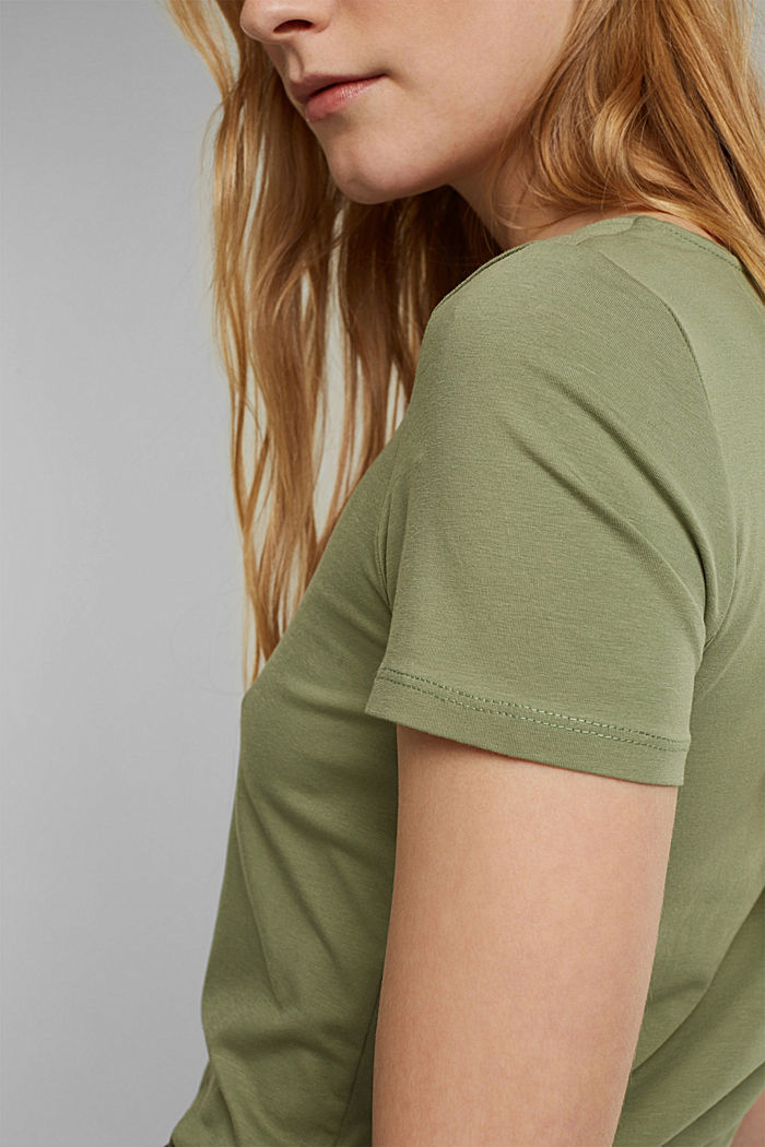 Basic T-Shirt aus Organic Cotton, LIGHT KHAKI, detail image number 2