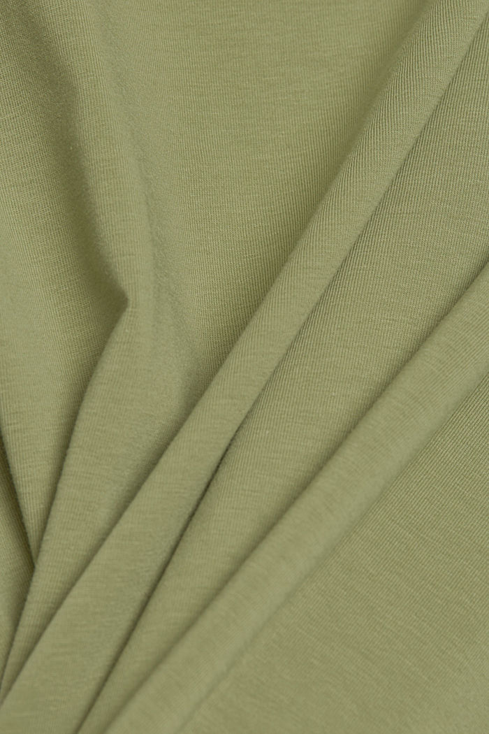 Basic T-Shirt aus Organic Cotton, LIGHT KHAKI, detail image number 4