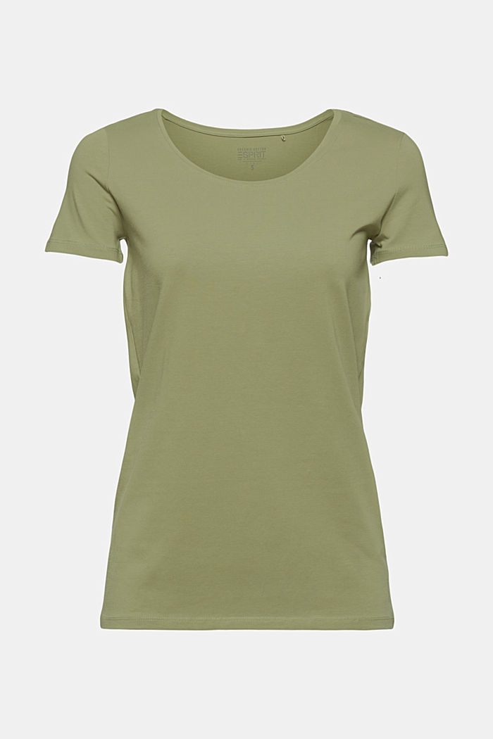Basic T-Shirt aus Organic Cotton, LIGHT KHAKI, overview