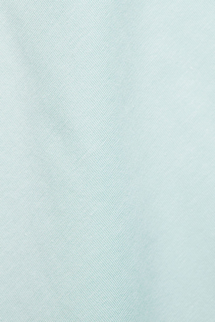 Basic T-shirt in organic cotton, LIGHT AQUA GREEN, detail image number 4