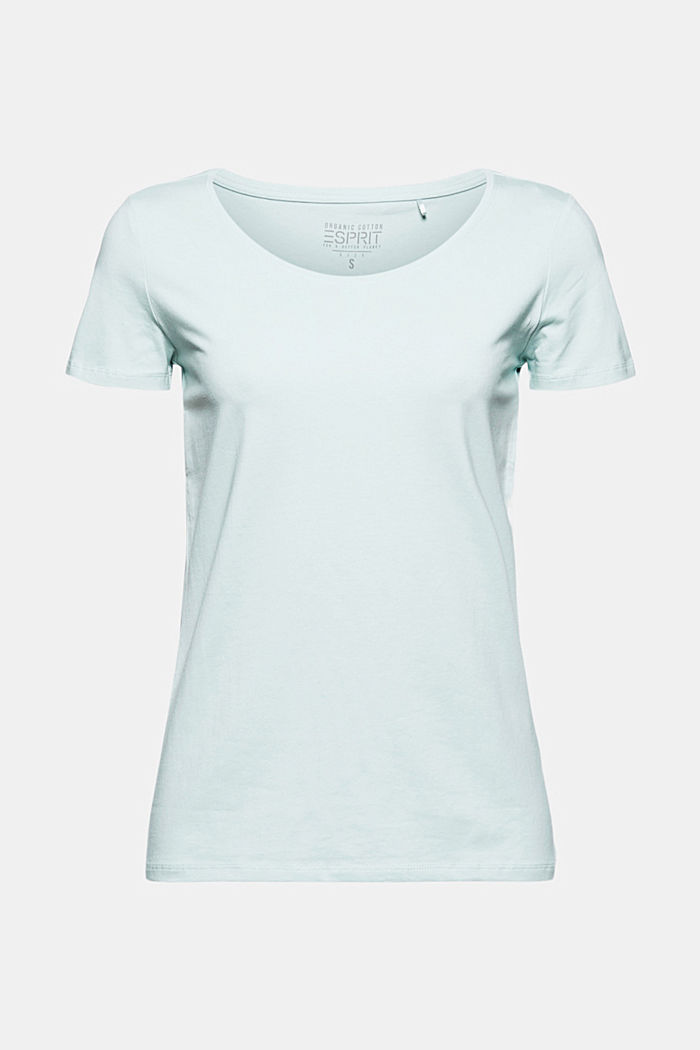 Basic T-shirt in organic cotton, LIGHT AQUA GREEN, detail image number 6